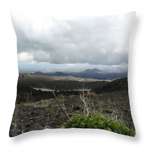 Throw Pillow featuring the photograph Etna's Landscape by Donato Iannuzzi