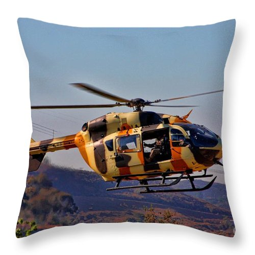 Us Army Throw Pillow featuring the photograph Eurocopter Uh-72 Lakota by Tommy Anderson