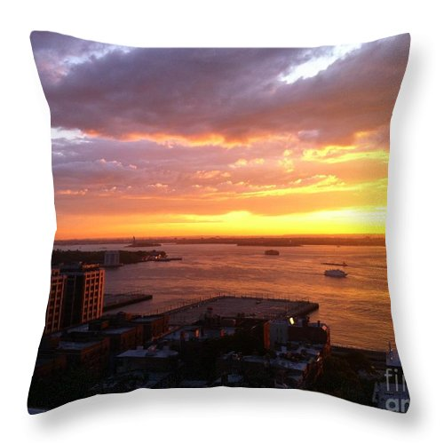 Evening Throw Pillow featuring the photograph Evening Glow by Gwen Baptiste