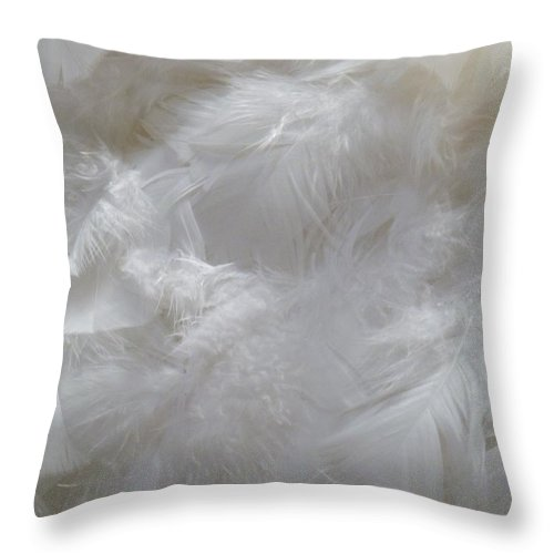 Still Life Throw Pillow featuring the painting Evidence Of Angels by Newel Hunter