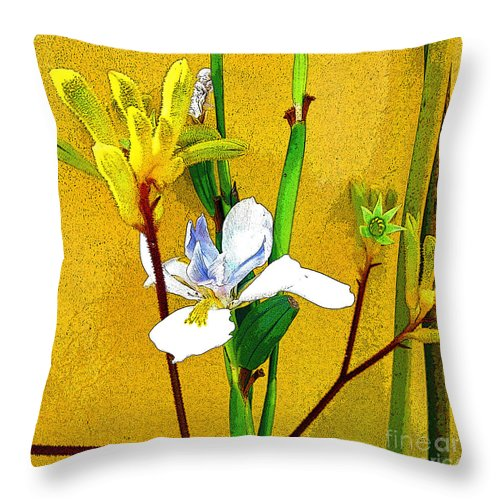 Flowers Throw Pillow featuring the photograph Exotic Flowers by Jerome Stumphauzer