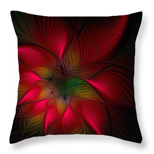 Digital Art Throw Pillow featuring the digital art Exotica by Amanda Moore