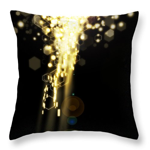 Abstract Throw Pillow featuring the photograph Explosion Of Lights by Setsiri Silapasuwanchai