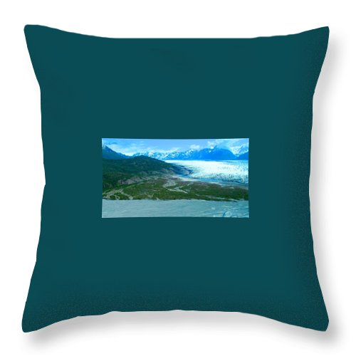 Alaska Throw Pillow featuring the photograph Extended Magnificence by Michael Anthony