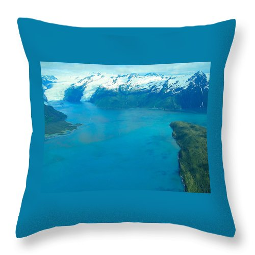 Alaska Throw Pillow featuring the photograph Exuberant Gelid by Michael Anthony