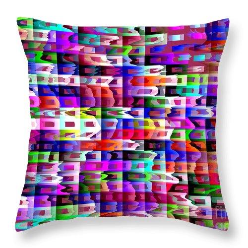 Ebsq Throw Pillow featuring the digital art Eyestrain by Dee Flouton