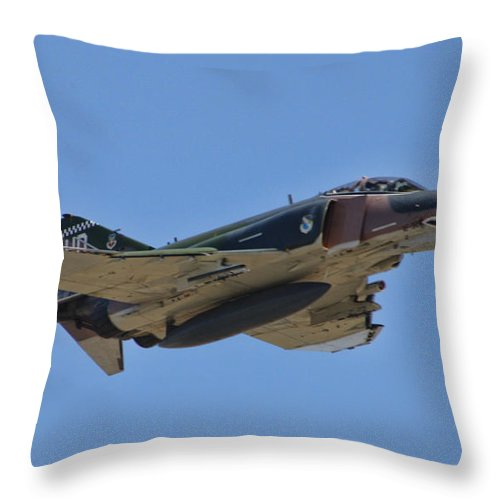 Throw Pillow featuring the photograph F-4 Phantom II by Tommy Anderson