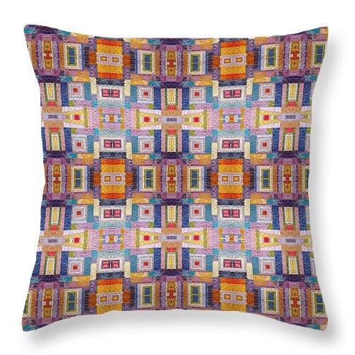 Mosaic Throw Pillow featuring the photograph Fabric Art by Munir Alawi