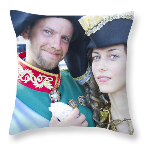 St. Petersburg Throw Pillow featuring the photograph Faces Of St. Petersburg by David Smith