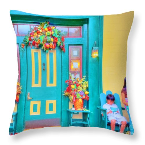 Letchworth Throw Pillow featuring the photograph Fall Decorations by Kathleen Struckle