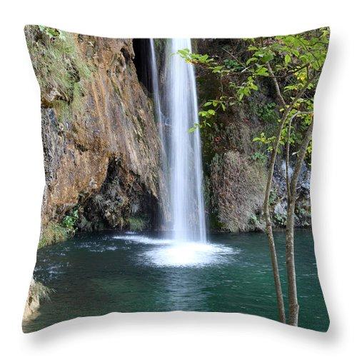 Plitvice Throw Pillow featuring the photograph Fall by Milena Boeva