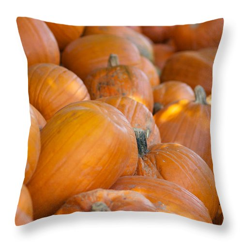 Pumpkin Throw Pillow featuring the photograph Fall Pumpkins by Brooke Roby