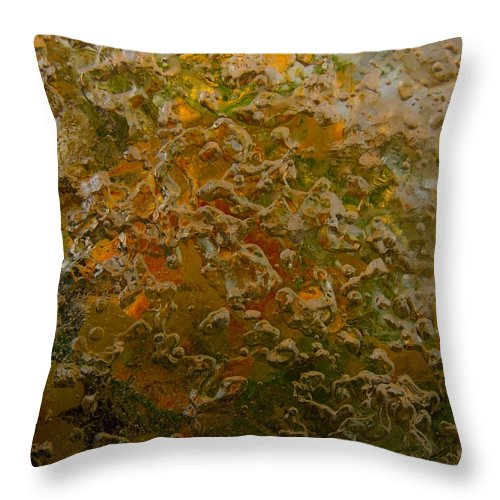 Colorful Throw Pillow featuring the photograph Fall To Pieces by Sami Tiainen