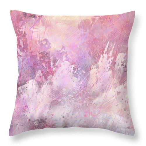 Fantasy Throw Pillow featuring the digital art Fallen City by Rachel Christine Nowicki