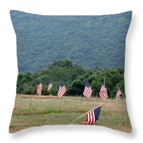 Graves Throw Pillow featuring the photograph Fallen Soliders by Michele Nelson