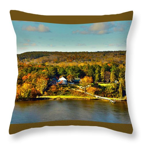 Fall Throw Pillow featuring the photograph Falling Into Color by Erin Rosenblum