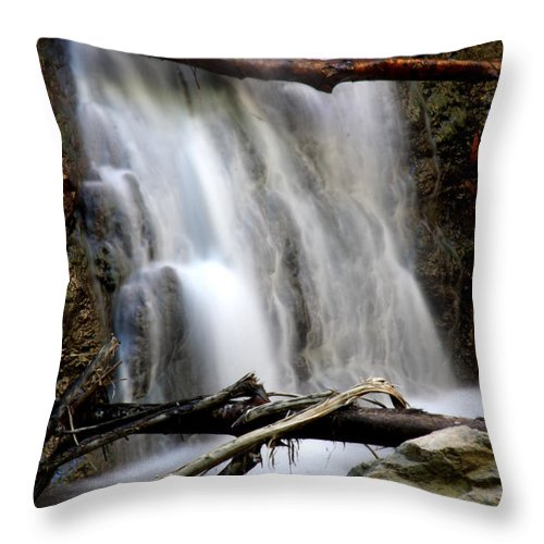 Waterfall Throw Pillow featuring the photograph Falls by Leonard Sharp