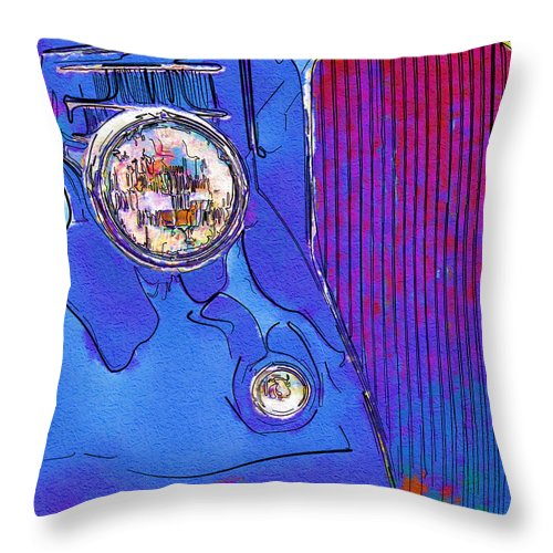 Ford Throw Pillow featuring the photograph Fancy Dancy Vintage Ford Cabriolet by Kathy Clark