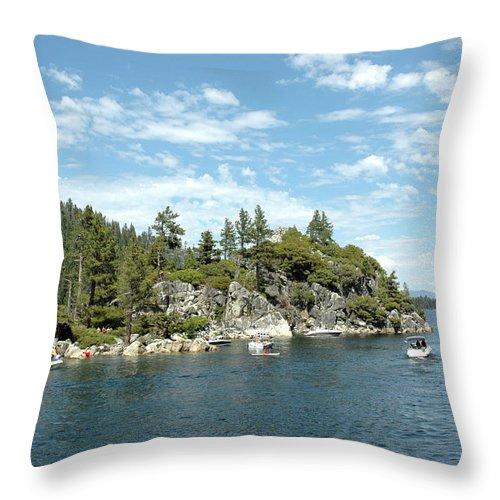 Usa Throw Pillow featuring the photograph Fannette Island Boat Party by LeeAnn McLaneGoetz McLaneGoetzStudioLLCcom