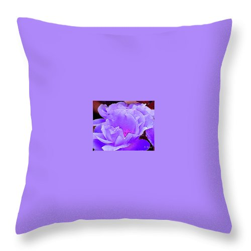 Roena King Throw Pillow featuring the photograph Fantasia Flower by Roena King
