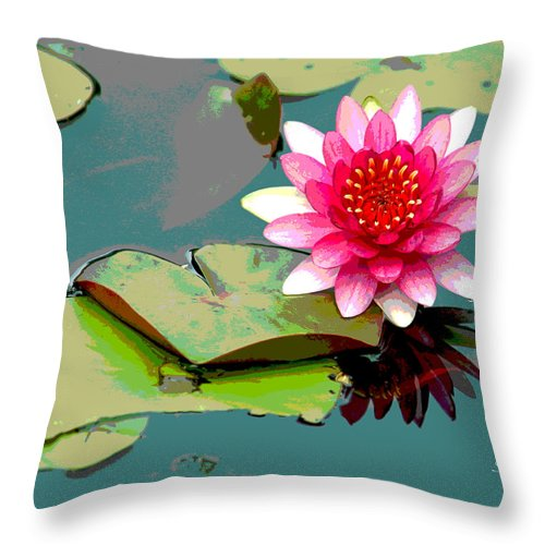 Flower Throw Pillow featuring the photograph Fantasia II by Suzanne Gaff