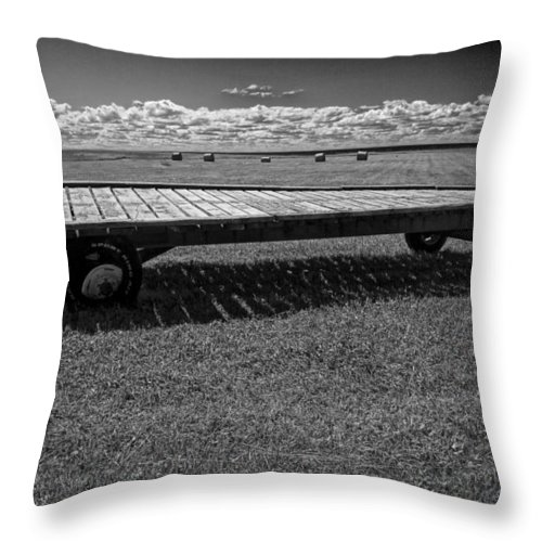 Art Throw Pillow featuring the photograph Farm Wagon In A Field On Prince Edward Island by Randall Nyhof