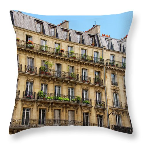 Paris Throw Pillow featuring the photograph Fascination Paris by Andre Distel