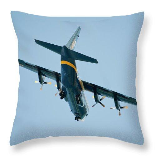 Hawaii Throw Pillow featuring the photograph Fat Albert Flies Low Over Our Lanai by Dan McManus