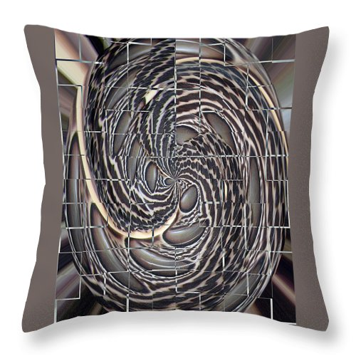 Swirl Throw Pillow featuring the photograph Feather Swirl by Darleen Stry