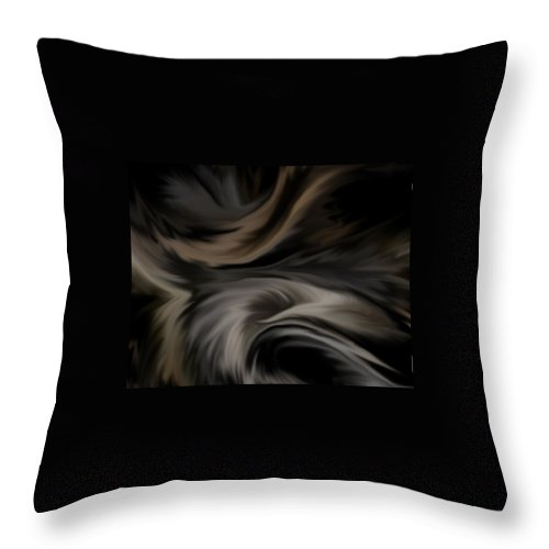 Feather Throw Pillow featuring the digital art Feathers by BJ Crank