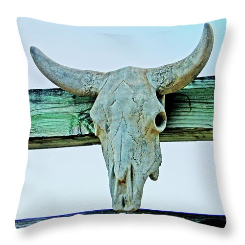 Ranch Throw Pillow featuring the digital art Fence Decor Ranch Style by Lizi Beard-Ward