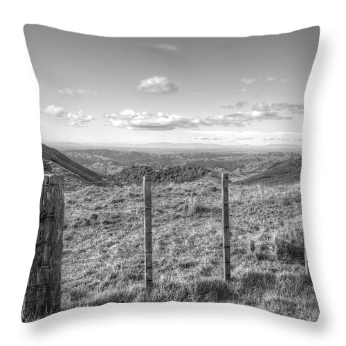 Agriculture Throw Pillow featuring the photograph Fenceline by Les Cunliffe