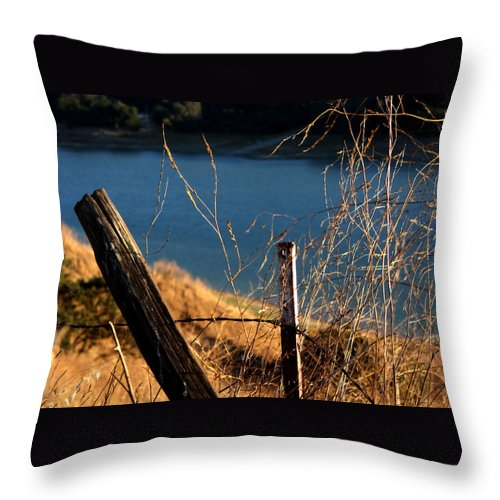 Fence Throw Pillow featuring the photograph Fenceposts by Leonard Sharp