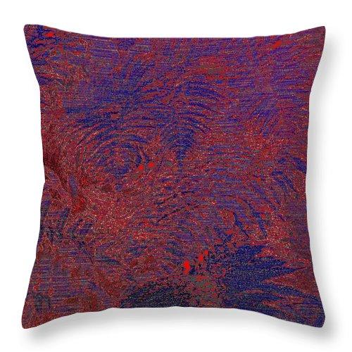 Fern Throw Pillow featuring the digital art Fern Grove by Tim Allen