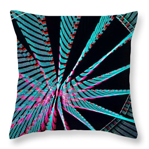 Abstracts Throw Pillow featuring the photograph Ferris Tracings 560 by Rich Walter