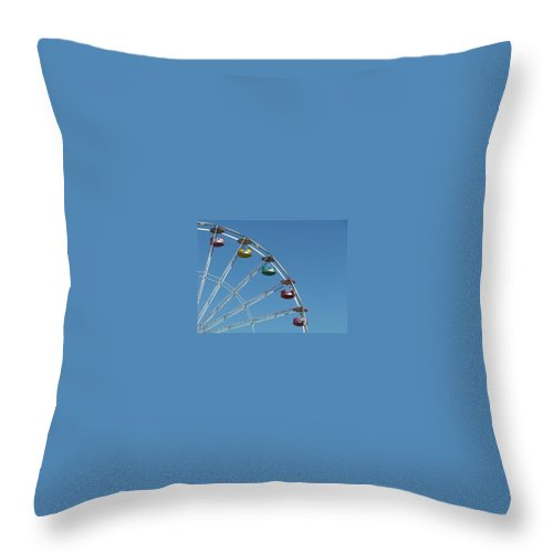 Ferris Wheel Throw Pillow featuring the photograph Ferris Wheel by Michele Nelson