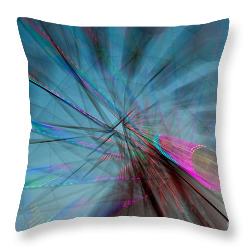 Clarence Holmes Throw Pillow featuring the photograph Ferris Wheel X by Clarence Holmes