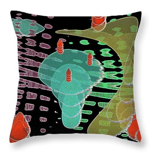 Fantasy Throw Pillow featuring the digital art Fertilization by Efrat Fass