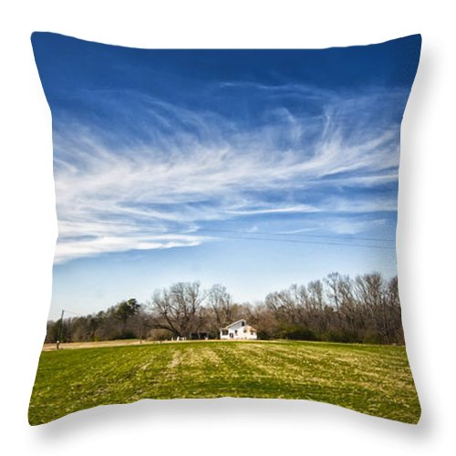 Alexandria Throw Pillow featuring the photograph Field And Sky by Jim Moore