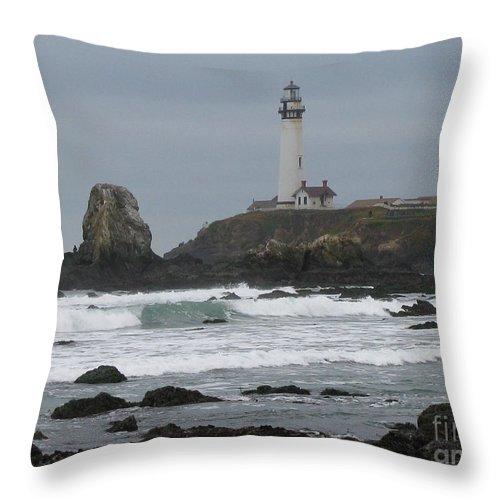 Ocean Throw Pillow featuring the photograph Fierce by Tina Marie