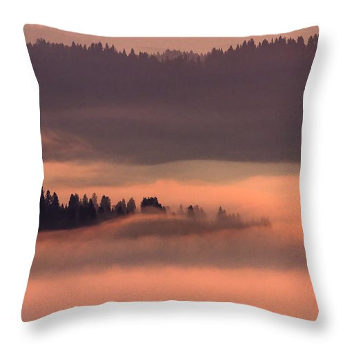 Knwr Throw Pillow featuring the photograph Fiery Flood by Albert Seger