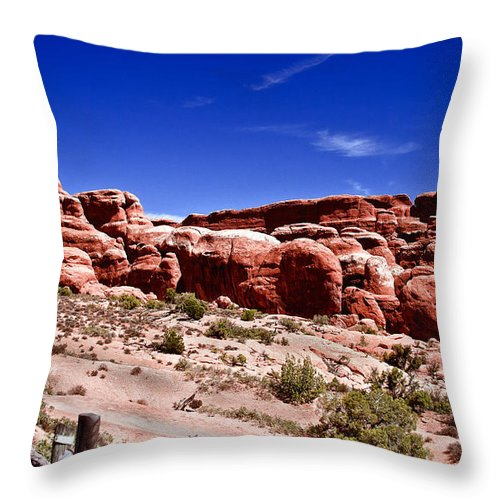 Arches National Park Throw Pillow featuring the photograph Fiery Furnace by Robert Bales
