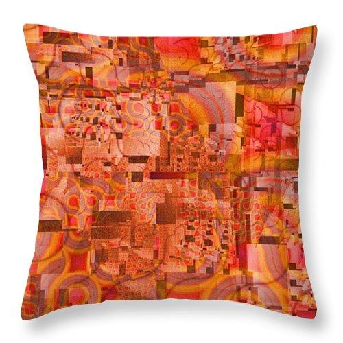 Fiesta Throw Pillow featuring the digital art Fiesta by Richard Ortolano