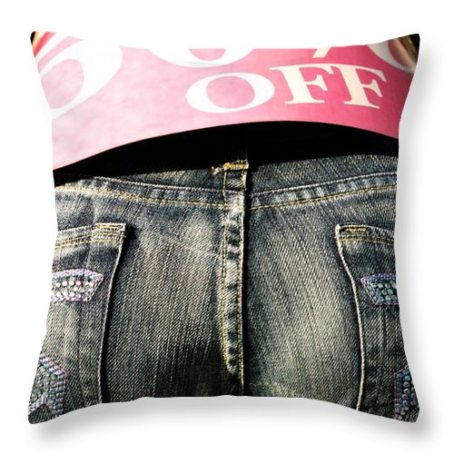 Ventura Throw Pillow featuring the photograph Fifty Percent Off by Henrik Lehnerer