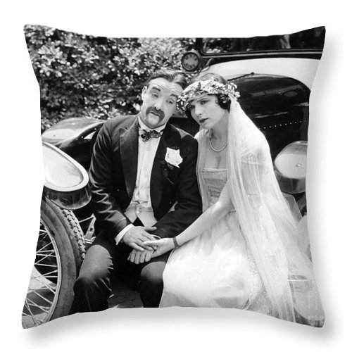 -weddings & Gowns- Throw Pillow featuring the photograph Film Where Am I by Granger