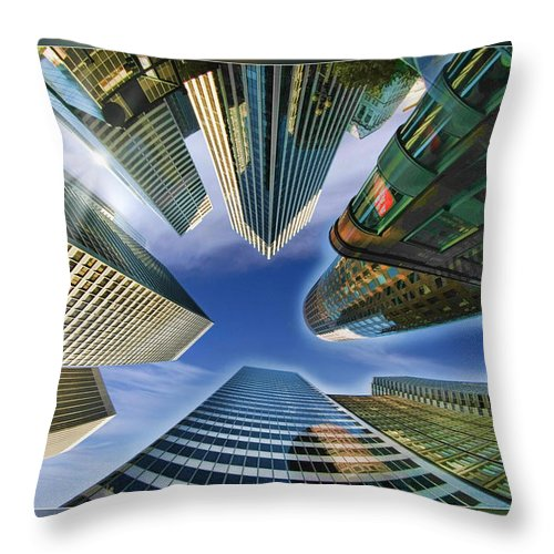 Art Photography Throw Pillow featuring the photograph Financial Skyline by Blake Richards