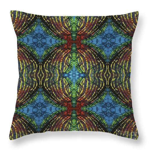 Ocean Throw Pillow featuring the painting Finz by Sue Duda
