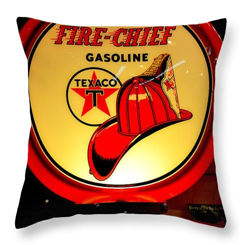 Vintage Automobile Throw Pillow featuring the photograph Fire Chief by Newel Hunter