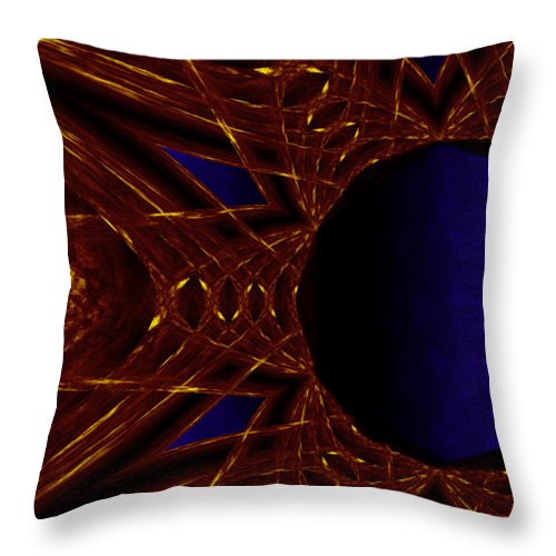 Fire Throw Pillow featuring the painting Fire Star by Christopher Gaston