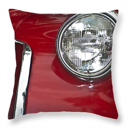 Fire Truck Grille Throw Pillow featuring the photograph Fire Truck by Carolyn Marshall